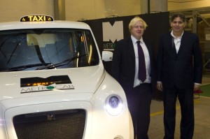 London Mayor Boris Johnson is First to See Zero-Emissions-Capable Next Generation Metrocab World Taxi