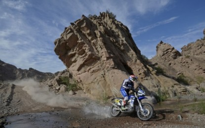 Factory Yamaha Riders Complete Dusty 3rd Stage 2015 Dakar
