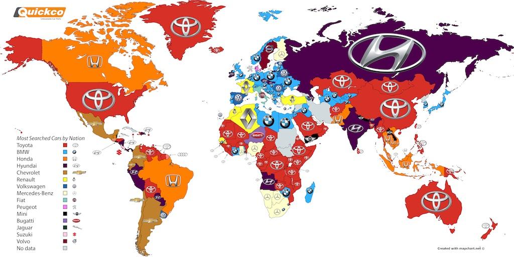 Toyota Most Googled Car Brand Worldwide Hyundai Takes Irish Honours