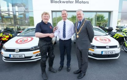 Blackwater Motors donate 182 Volkswagen Polo to Blood Bikes South