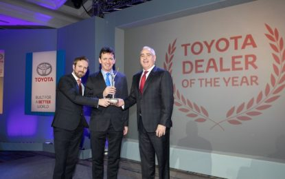 Toyota Sandyford is Dealer of the Year at Toyota Awards